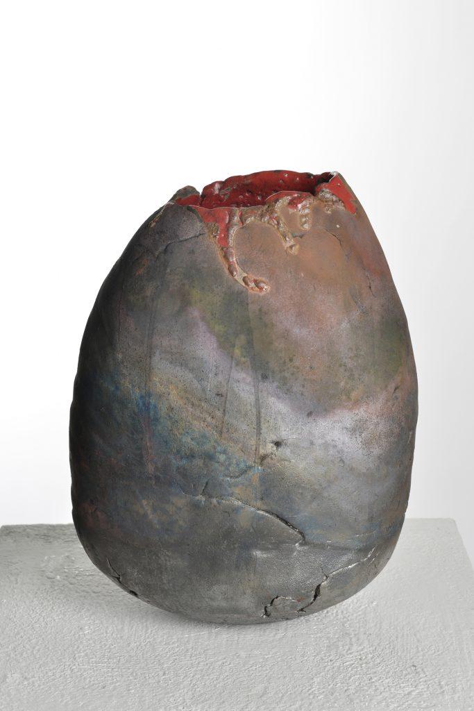 Vase, Kupferoxyd mit rot