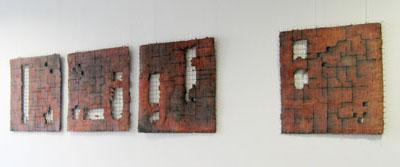 Wandobjekte Raku-Keramik
